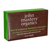 John Masters Organics Birch & Cedarwood Cleansing & Shaving Bar 128g
