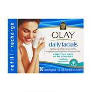 Olay Daily Facials Lathering Soothing Cleansing Cloths Refill - Sensitive x30