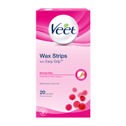 Veet EasyGrip Ready-to-Use Wax Strips x20 & Perfect Finish Wipes x4 - Normal Skin