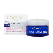 L'Oréal Paris Triple Active Night Hydrating Night Moisturiser - All Skin Types 50ml