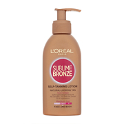 L'Oréal Paris Sublime Bronze Self-Tanning Lotion Medium Tan - Face & Body 150ml